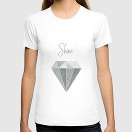 Shine Bright Like a Diamond - Gray & Blue T-shirt