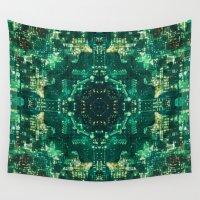 matrix Wall Tapestries featuring Matrix Evolution by Scott Aichner