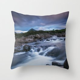 The River at Sligachan Throw Pillow