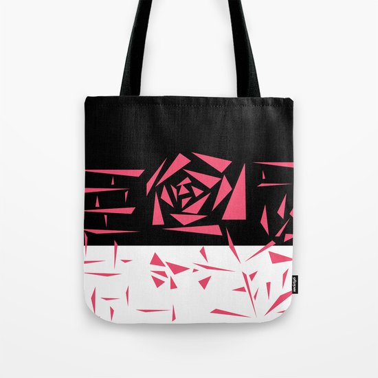 Abstract rose. black and white red . Tote Bag