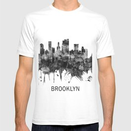 Brooklyn New York Skyline BW T-shirt