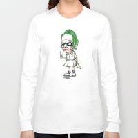 nurse Long Sleeve T-shirts featuring Clown Nurse by Ludwig Van Bacon