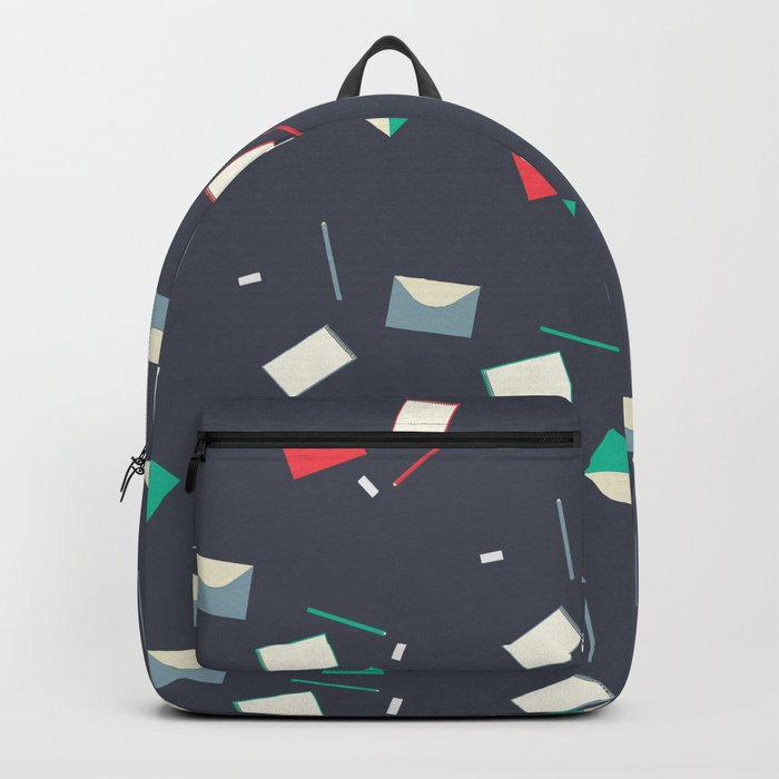 Stationery pattern Backpack