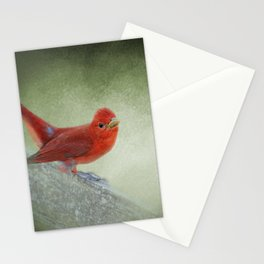Song of the Summer Tanager 4 - Birds Stationery Cards