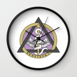 Dental Caduceus Wall Clock