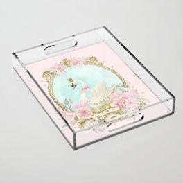 The shabby Swan Acrylic Tray