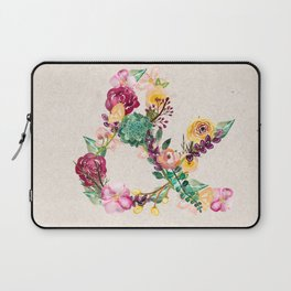 Floral Ampersand Laptop Sleeve