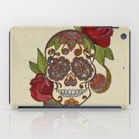 sugar skull iPad Cases featuring Sugar Skull by Valentina Harper