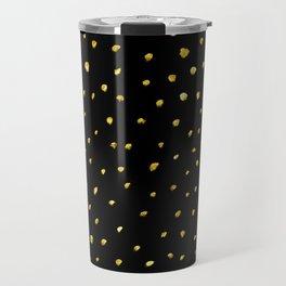 Brushed Gold Dots Travel Mug