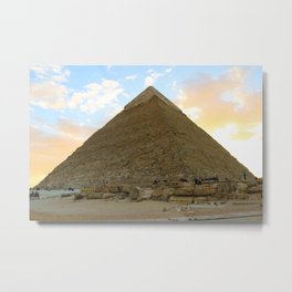 Great Pyramid or the Greatest Pyramid? Metal Print