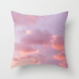 Unicorn Sunset Peach Skyscape Photography Throw Pillow
