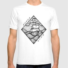 NEVER SINK White MEDIUM Mens Fitted Tee