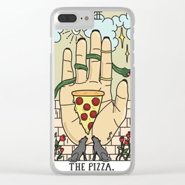 Pizza Reading Clear iPhone Case