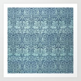 William Morris Brer Rabbit Textile Pattern Art Print