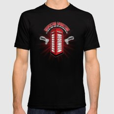 Inspector Spacetime Mens Fitted Tee LARGE Black