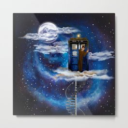 Live on the cloud in the BOX Doctor who iPhone 4 4s 5 5c 6 7, pillow case, mugs and tshirt Metal Print
