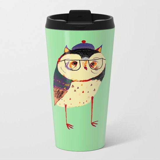 Owl Cutey. Metal Travel Mug