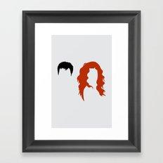 Minimalist Will & Grace Framed Art Print