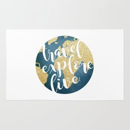 Travel, Explore, Live Rug