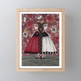 Snow-White and Rose-Red (1) Framed Mini Art Print