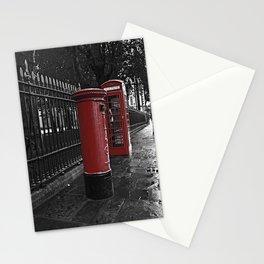 London Phone Box And Royal Mail Postal Box Stationery Cards