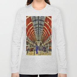 Paddington Railway Station Art Long Sleeve T-shirt