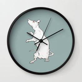 Red eyed rat Wall Clock