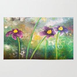 Purple Flower Rug