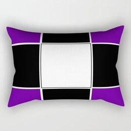 Team Colors 3 ...purple, black and white Rectangular Pillow