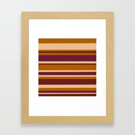 90's Stripes Framed Art Print