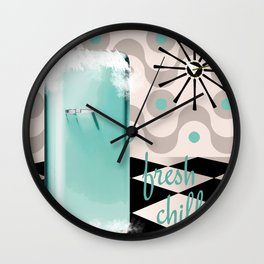 Fifties Kitchen Fridge Wall Clock