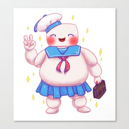 Stay Puft and Cute Canvas Print