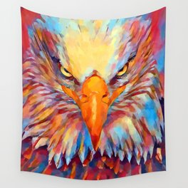 Bald Eagle Watercolor Wall Tapestry