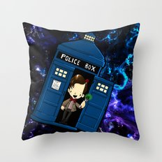 Tardis in space Doctor Who 11 Throw Pillow