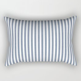 WASHED DENIM CHAMBRAY STRIPES Rectangular Pillow