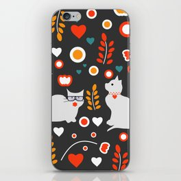 Valentine decor with cats iPhone Skin