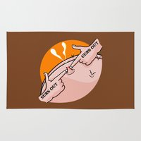 fitness Area & Throw Rugs featuring Suns Out Guns Out Zit by mailboxdisco