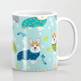 Corgi pajamas welsh corgi in pjs pattern print cute dog gifts custom dog portrait Coffee Mug