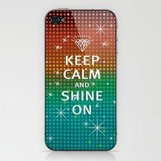 Keep Calm and Shine On (You Crazy Diamond) iPhone & iPod Skin