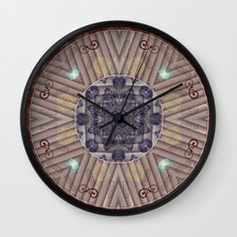 200417 Mandala Art - Manifestation of Abundance and Goals Wall Clock