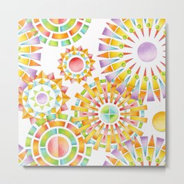 Sunburst Rainbows Metal Print