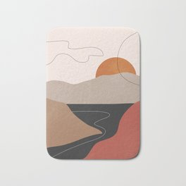 Abstract Art / Landscape 2 Bath Mat