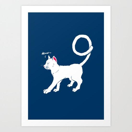 cat have 9 lives Art Print