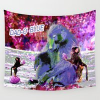 dad Wall Tapestries featuring DAD-O BLUE by CrismanArt