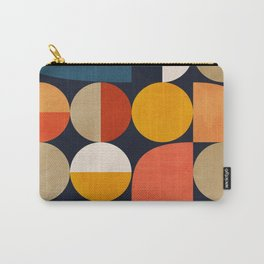 mid century geometric abstract Carry-All Pouch