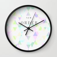 new order Wall Clocks featuring New Order by ░░░░░░░░░░░░