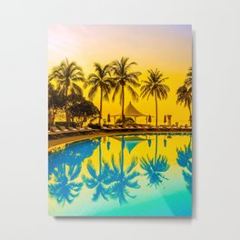 Tropical Place Metal Print