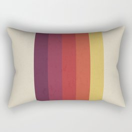 Retro Video Cassette Color Palette Rectangular Pillow