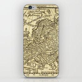 Vintage map of Europe iPhone Skin