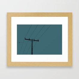 Phone Lines Framed Art Print